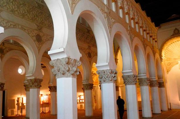 visita a la Sinagoga de Santa Maria la Blanca en el Toledo Judio
